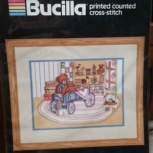 Vintage Bucilla Printed Counted Cross Stitch Kit